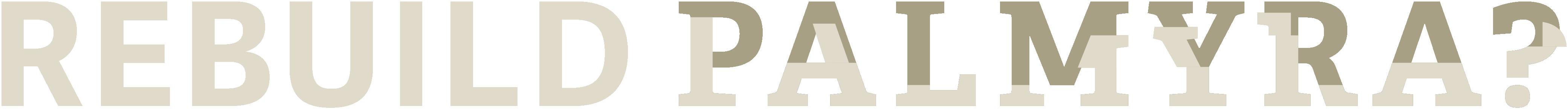 Rebuild Palmyra